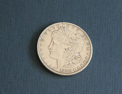 1886 VF Morgan silver USA dollar