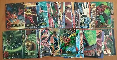 64 Outburst Firepower DC 1996 Embossed Cards including some Maximum Firepower