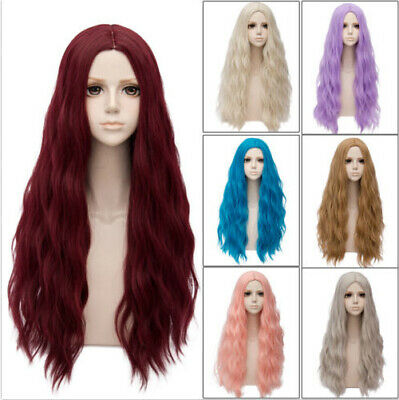 28 Colours Long Cosplay Heat Resistant 78cm Curly Ombre Party Women Lolita Wig