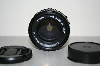 《NEAR MINT》Canon New FD 50mm f/1.4 Lens From Japan