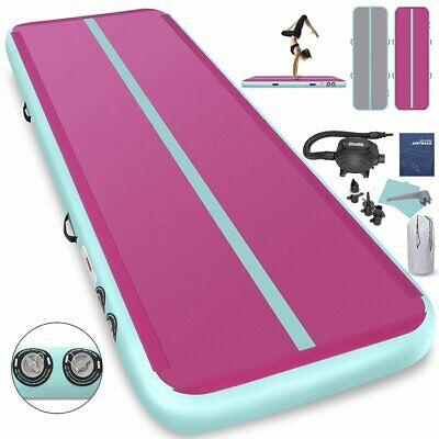 20Ft Air Track Floor Tumbling Inflatable Gym Mat gymnastic AirTrack Fitness1INCH