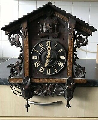 Early 20th Century Black Forest Wall Mounted Cuckoo Clock