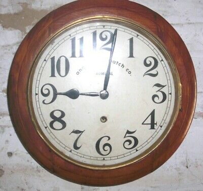 Anglo Swiss Watch Company Admiral Model Antique Wall Clock in Working Order