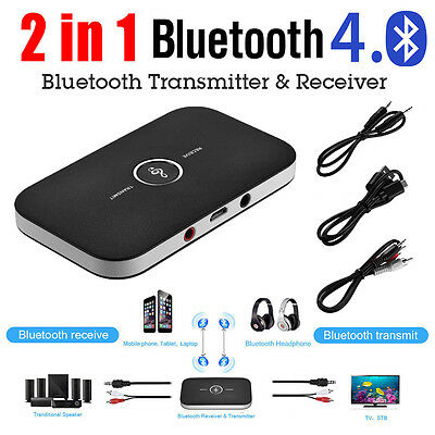 2 in 1 HIFI Wireless Bluetooth Audio Transmitter Receiver Home RCA Music Adapter