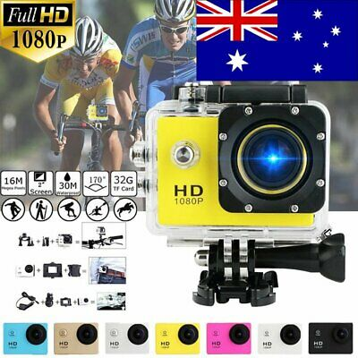 "4K 2"" 16MP 1080P Waterproof Sports Action Camera DVR Video Recorder Go Pro Cam"