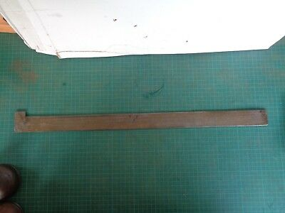 Vintage Steel ruler, blacksmith use