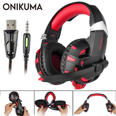 ONIKUMA K2 3.5mm Headset For PS4 Gaming Headphones PC Gamer Stereo Headset W/Mic