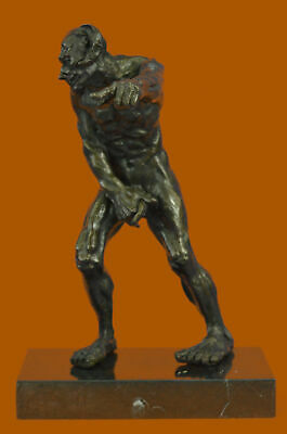 Satan Evil Demon Devil Bronze Sculpture Statue Figure on Marble Base Numbered Ar