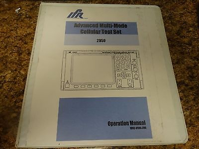IFR 2959 Instruction manual