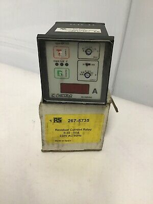 553142 Circutor | Panel mount adjustable RCD Current, Relay,  REF70