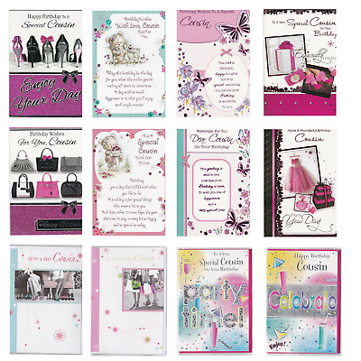 Cousin Birthday Card For Girl Female Woman Choice Of Design