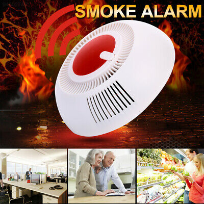 8B6B ABS Smoke Detector Device Security Independent Smoke Sensor