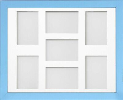 Frame Company Jellybean Pale Blue Wood Multi Aperture Collage Photo frame &Mount
