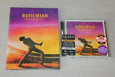Bohemian Rhapsody DVD BOOK EDITION + Queen - Bohemian Rhapsody PL CD