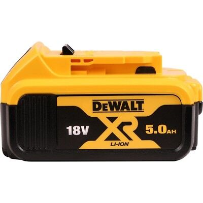 Genuine Dewalt DCB184 18V XR Li-Ion 5.0AH Lithium Slide Battery.