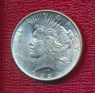 1922 Peace Silver Dollar **choice Brilliant Uncirculated** Free Shipping!