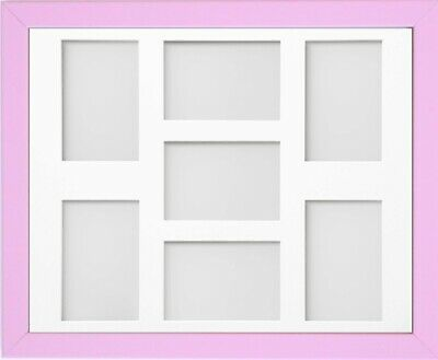 Frame Company Jellybean Pink Wooden Multi Aperture Collage Photo frame & Mount