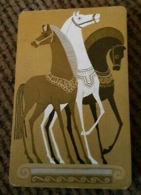vintage playing cards deck deco horse Grand Slam USA