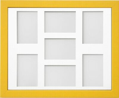 Frame Company Jellybean Yellow Wooden Multi Aperture Collage Photo frame & Mount