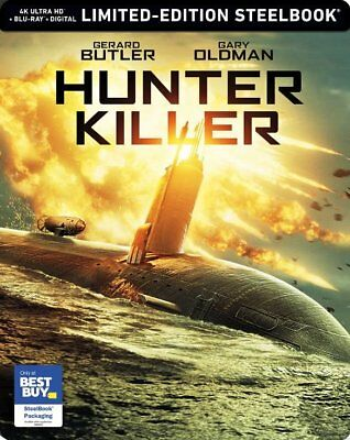 Hunter Killer - Best Buy Exclusive Steelbook (Blu-ray + 4K UHD) BRAND NEW!!