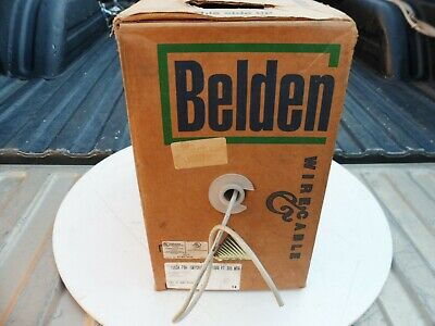 Belden Wire 1583A 24/4P CAT5 Solid Network Cable Non Plenum White /200ft