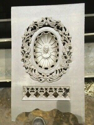 Antique Cast Iron Victorian Fireplace Cover Extremely Rare!!!! High Relief