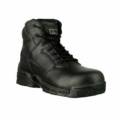 """Magnum Stealth Force 6"""" CT/CP (37422) Black Metal Free Safety Leather S3"""