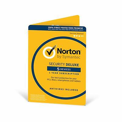 Norton Security Deluxe 2019 - 5 Devices - 1 Year - Security PC/Mac/iOS/Android