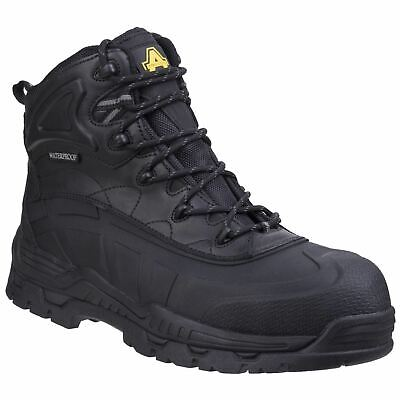 Amblers Safety FS430 Orca Black Waterproof Safety Footwear Action Leather SBH