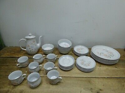 Job Lot Of Vintage Dauphine Denby Tableware Coffee Pot, Plates, Bowls #24E
