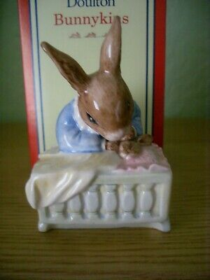 Royal Doulton Bunnykins Figure 'new Baby' Db 158 Perfect In Box