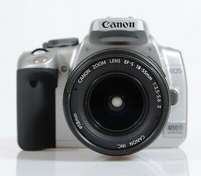 Canon EOS 400D-Silver Digital SLR with 18-55mm II EF-S Lens
