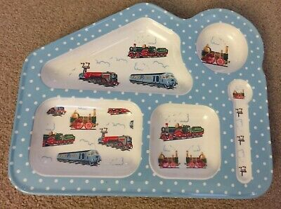 Cath Kidston Trains Melamine Plate Kids Children