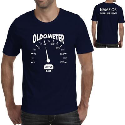 Oldometer Mens 60th Birthday Gift Printed T Shirt For Him Dad Grandad
