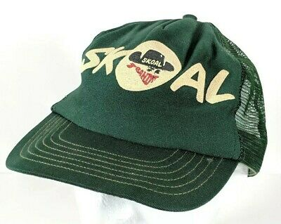8fa8bc54 Vintage Skoal Bandit Green Mesh Snapback Trucker Hat Cap - Read Description