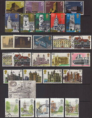 LOT#359a - GB QEII ARCHITECTURE / HISTORIC BUILDINGS THEMED COLLEC 15x SETS USED