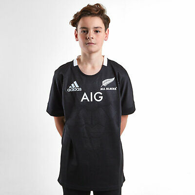 New Zealand All Blacks 2018//19 Players Performance Rugby T-Shirt Tee Top Black