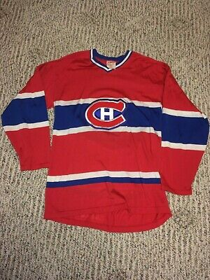 c43cc683bd9 Vintage NHL Hockey Montreal Canadiens Jersey Sandow Red White Blue Size M  Medium