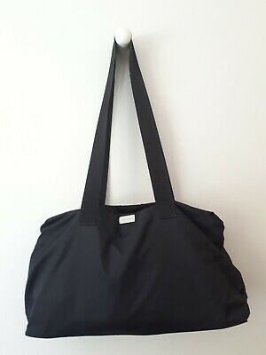 Oroton Large black nylon overnight duffle duffel bag carry on nappy bag