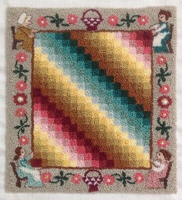 "Primitive Folk Art Punch Needle Pattern ""Quilters' Guild"