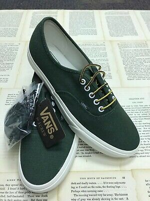 b9a7c31aae Vans Authentic Canvas Green True White Yellow Men s Size 10.5 Skate Shoes