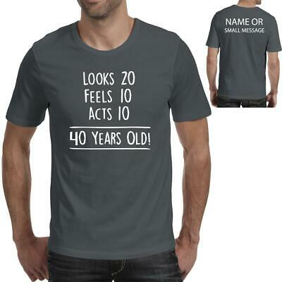 81704f331 40th Birthday Mens Funny Gift Counting the years Printed T-Shirt 40