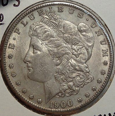 1900-S Morgan Silver Dollar, Choice AU/Unc, Scarce S Mint Coin    0420-06
