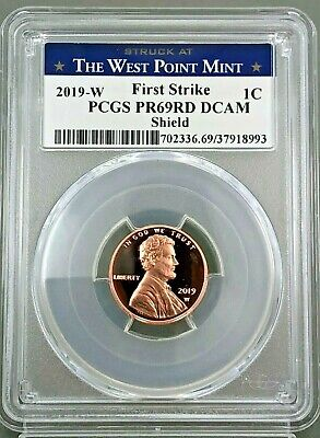 2019 W PROOF LINCOLN CENT WEST POINT LABEL PCGS PR69DCAM ~ First Strike LIVE !