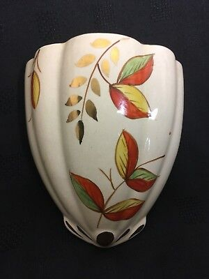 Wall Vase Pocket Chamber Vintage Art Deco Quality Arthur Wood Made In England Pottery