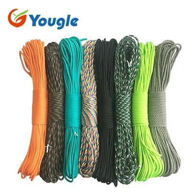 550 Paracord Parachute Cord Lanyard Spec Type III Rope 7 Core Mil Strand 100FT