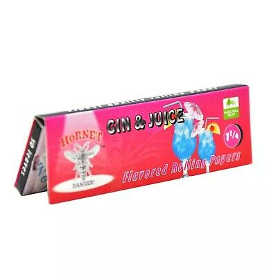 2 Packs Gin & Juice Flavored 100 Rolling Papers 1 1/4 Tobacco Use Weed Joint