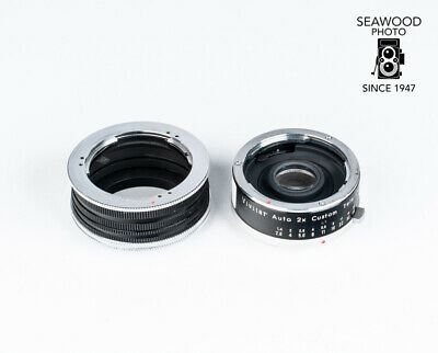 Vivitar Auto 2x Tele-Converter Model 2x-12 For Olympus Pen With Extension Tubes