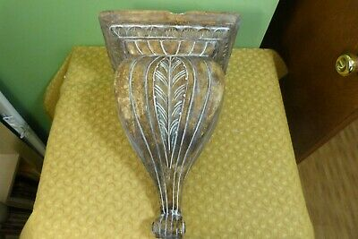 Vintage/Antique Hand Made Corbel - Very Heavy - Damaged Top - Shabby Chic