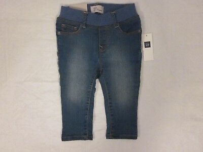 Baby GAP Girls Skinny Denim Stretch Blue Jeans 6-12 Months New